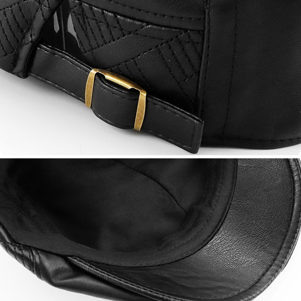 Aetrends Men Leather Flat Cap
