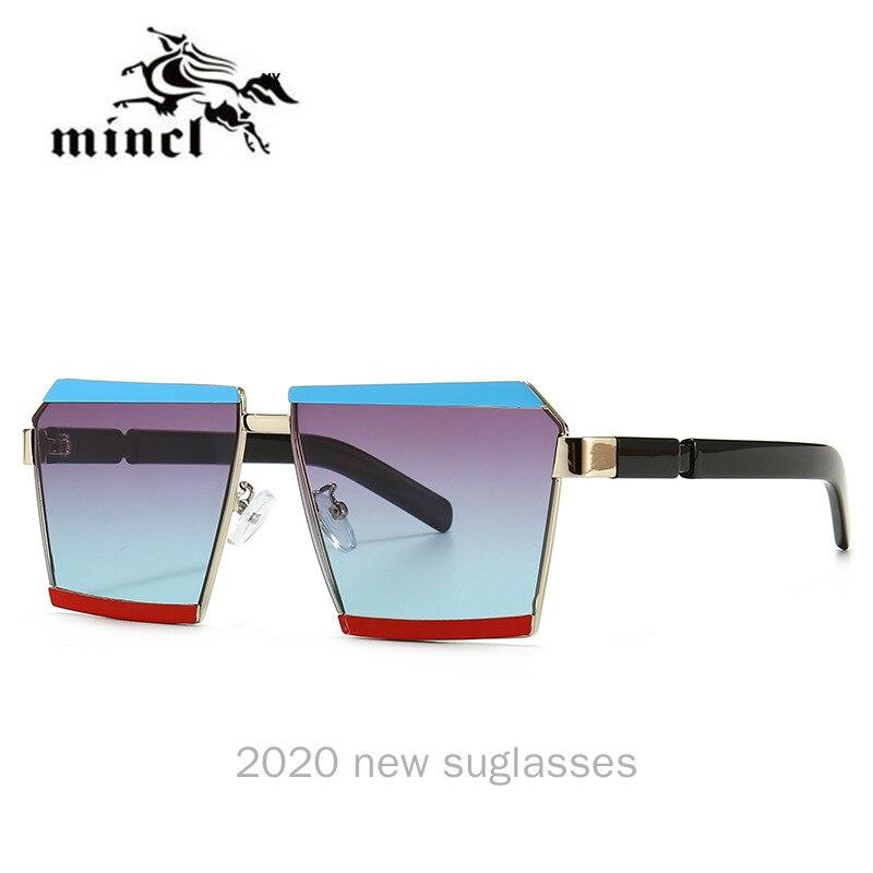 Mincl Unisex Square Hip Hop UV400 Sunglasses