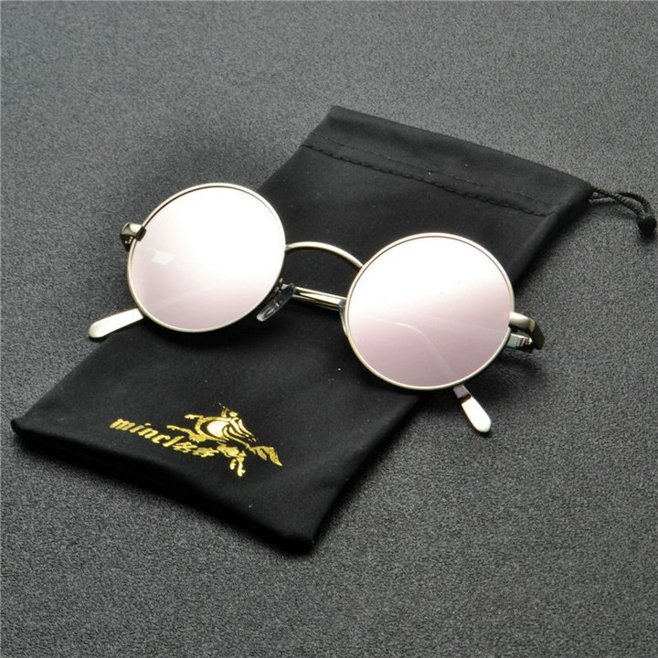 Mincl Unisex Alloy Oval Sunglasses