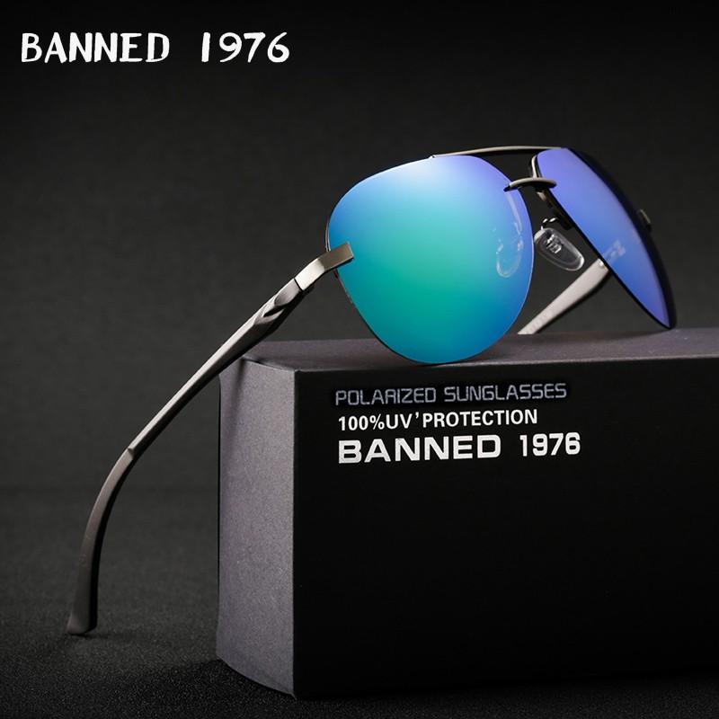 Banned Unisex Aluminum Polarized Sunglasses