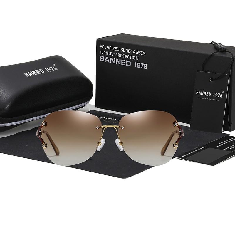 Banned Women Polarized Cat Eye UV400 Sunglasses