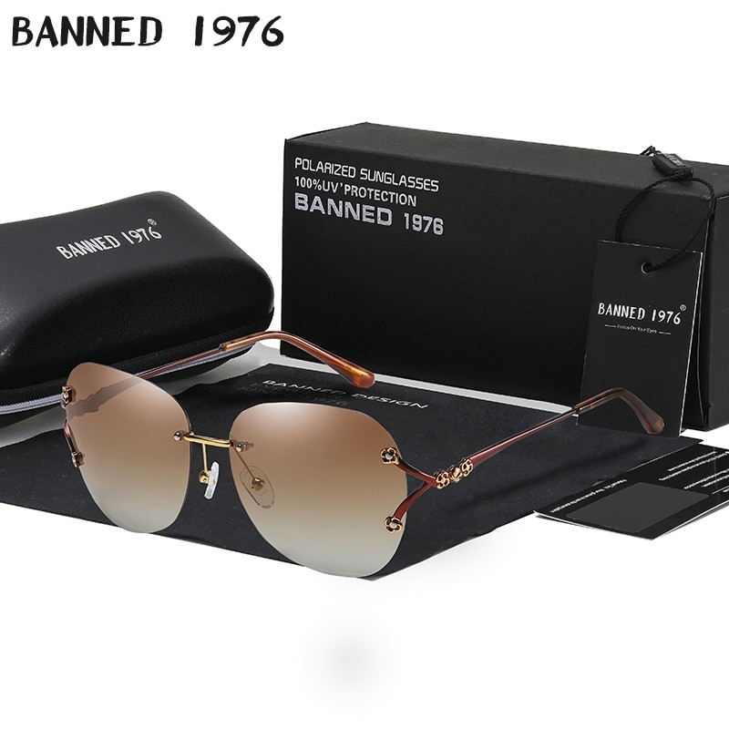 Banned Women Polarized Cat Eye UV400 Sunglasses