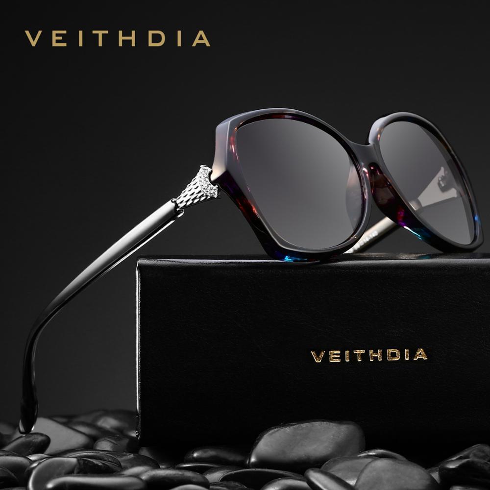 Veithdia Women Luxury Sunglasses UV400