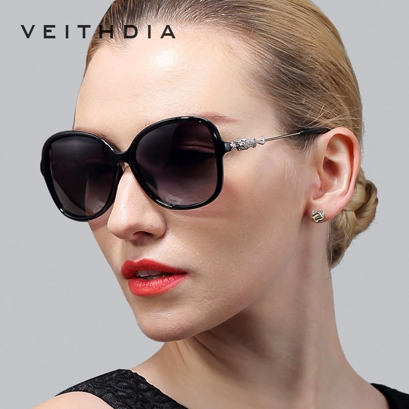 Veithdia Women Leopard Designer Sunglasses