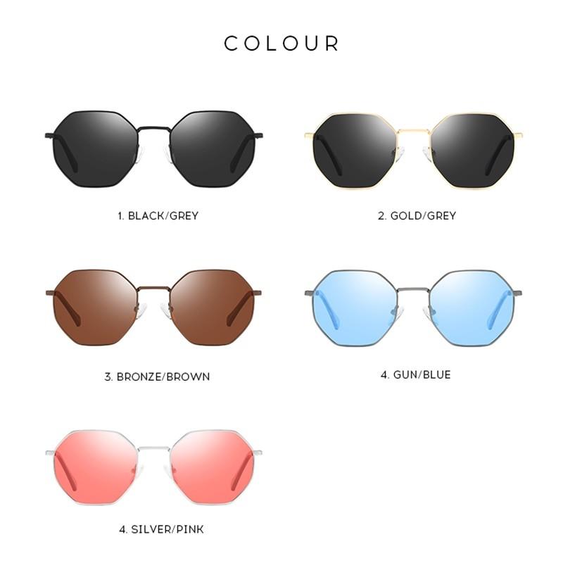Banned 1976 Women Polarized Polygonal Sunglasses