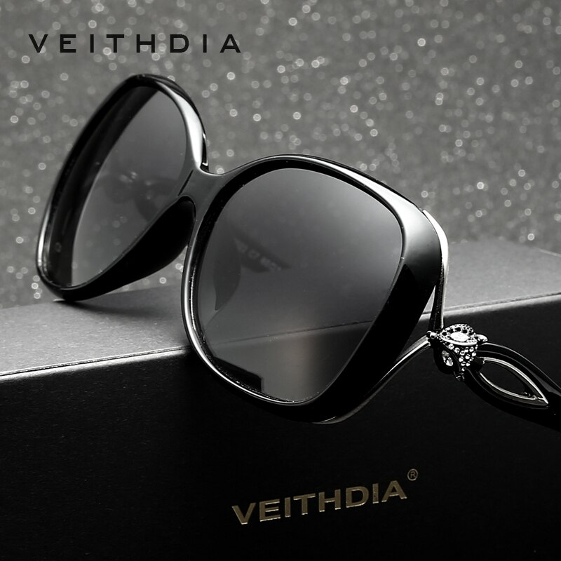 Veithdia Women Polarized Retro TR90 Sunglasses