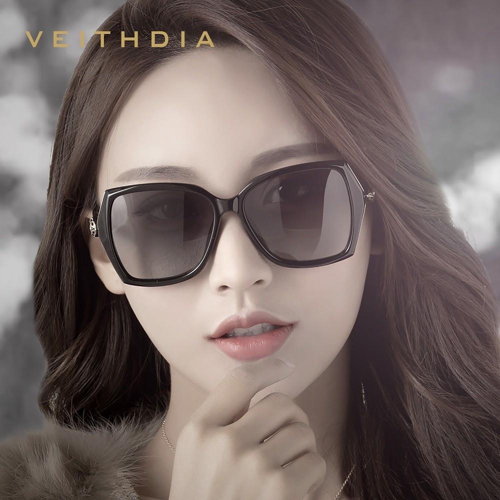 Veithdia Women Polarized Retro Sunglasses