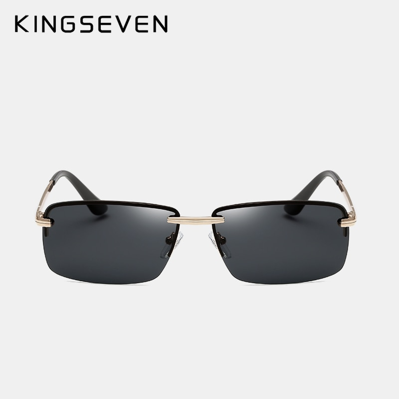 Kingseven Men Rimless Polarized Sunglasses