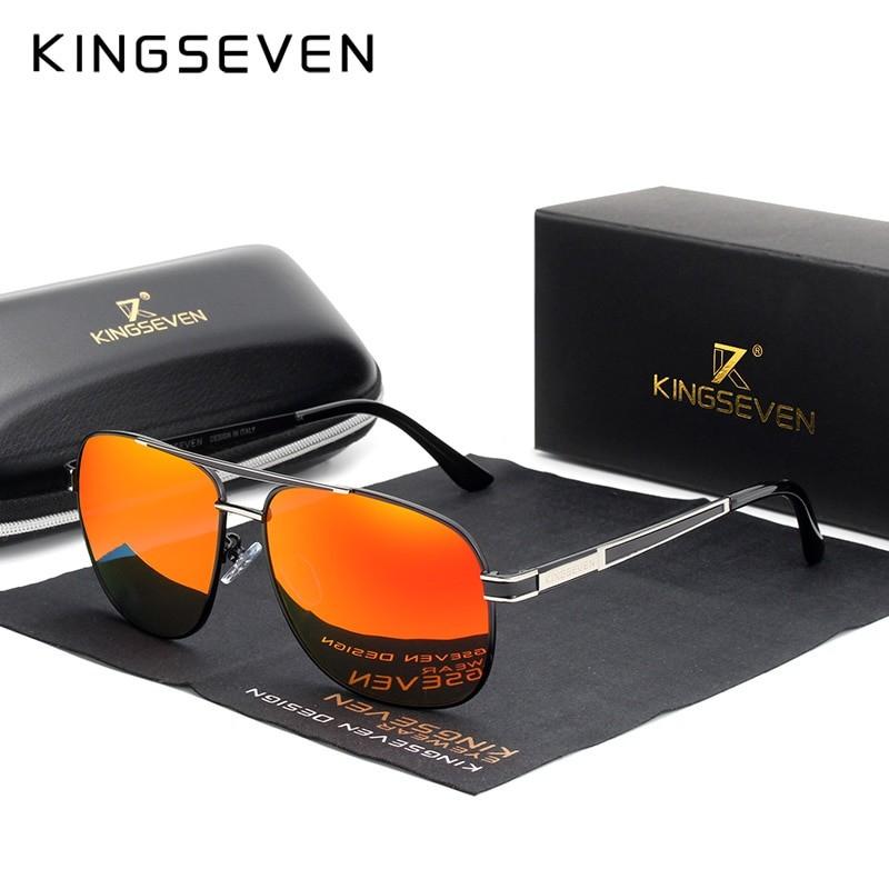 Kingseven Men Square Polarized Sunglasses