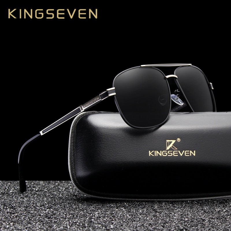 Kingseven Men Square Polarized Sunglasses