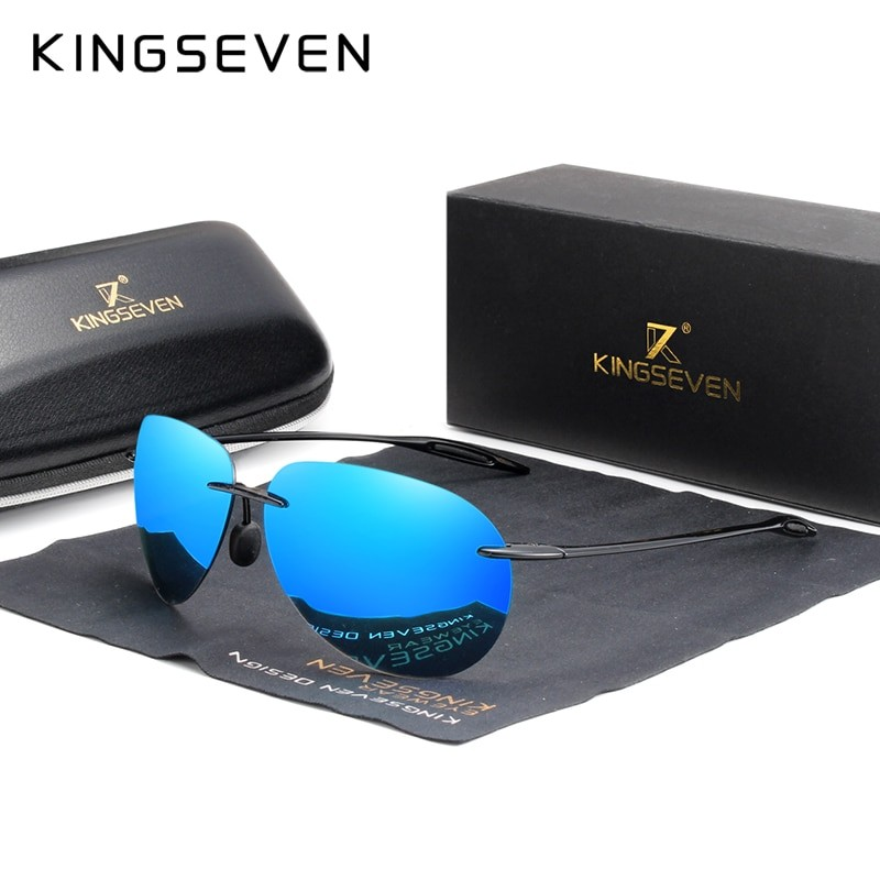 Kingseven Men Ultralight Frameless Sunglasses