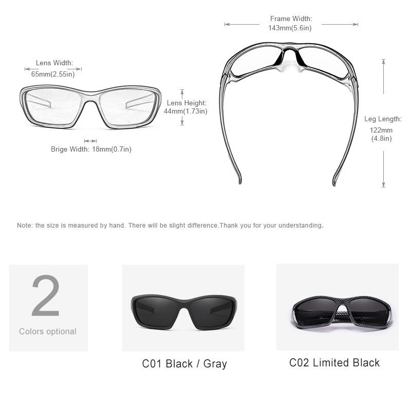 Kingseven Men Carbon Fiber Frame Driving Sunglasses