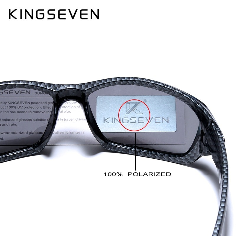 Kingseven Men Carbon Fiber Frame Driving Sunglasses