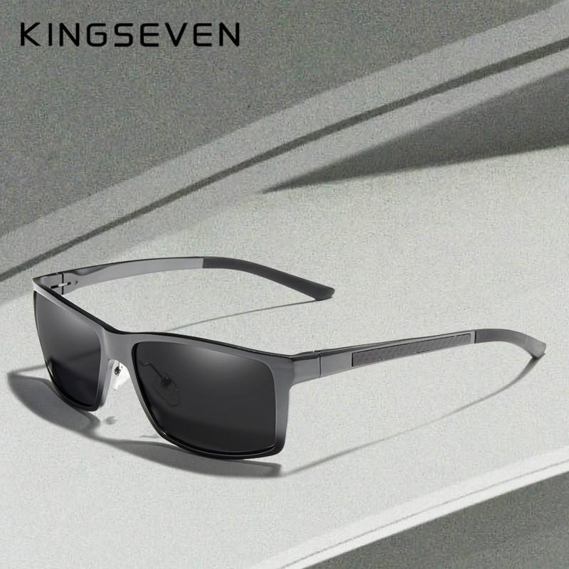 Kingseven Men Square Driving Sunglasses