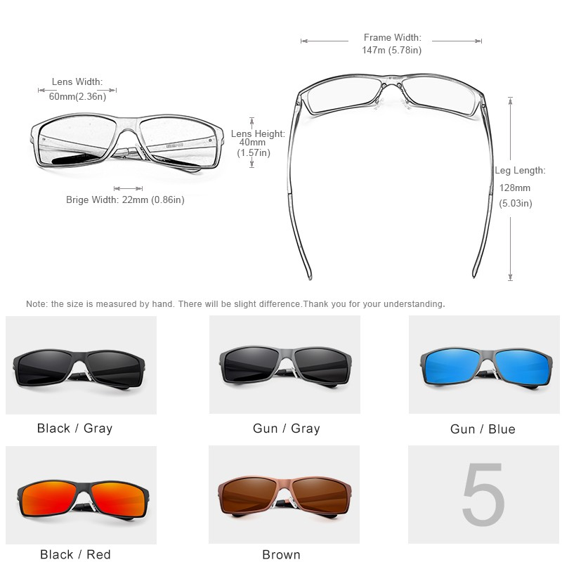 Kingseven Men Square Driving Sunglasses