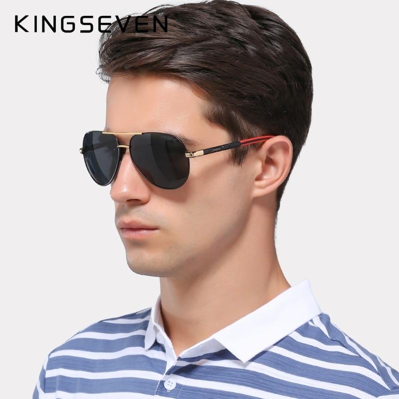 Kingseven Unisex Vintage Polarized Sunglasses